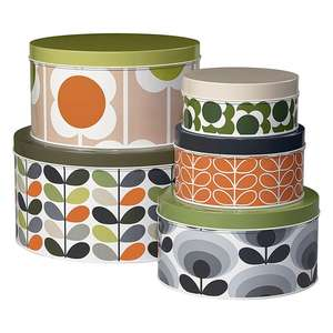 Orla Kiely Stem Set Of 5 Cake Tins at Temptation Gifts £28.94 delivered (free delivery £50+ spend)