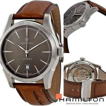 Hamilton Spirit of liberty automatic Men's Brown Leather Strap Watch H42415591 £545 Ernest Jones