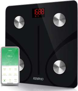 RENPHO Bluetooth Body Fat Scale - £21.59 @ Sold by RENPHO and Fulfilled by Amazon.