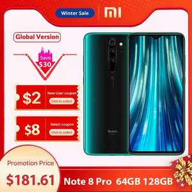 Global Version Xiaomi Redmi Note 8 Pro 6GB 64GB Smartphone £148.66 @ Xiaomi Online Store/Aliexpress