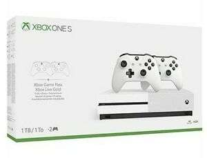 Xbox One S 1TB Console White - Two Controller Bundle - £167.19 (using code) @ Shopto / eBay