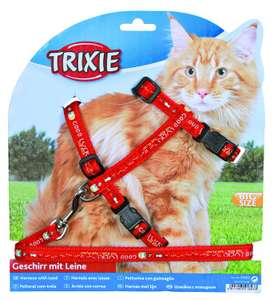 Trixie Cat Set of Harness and Lead for Large Cats now £2.99 (add-on item) at Amazon