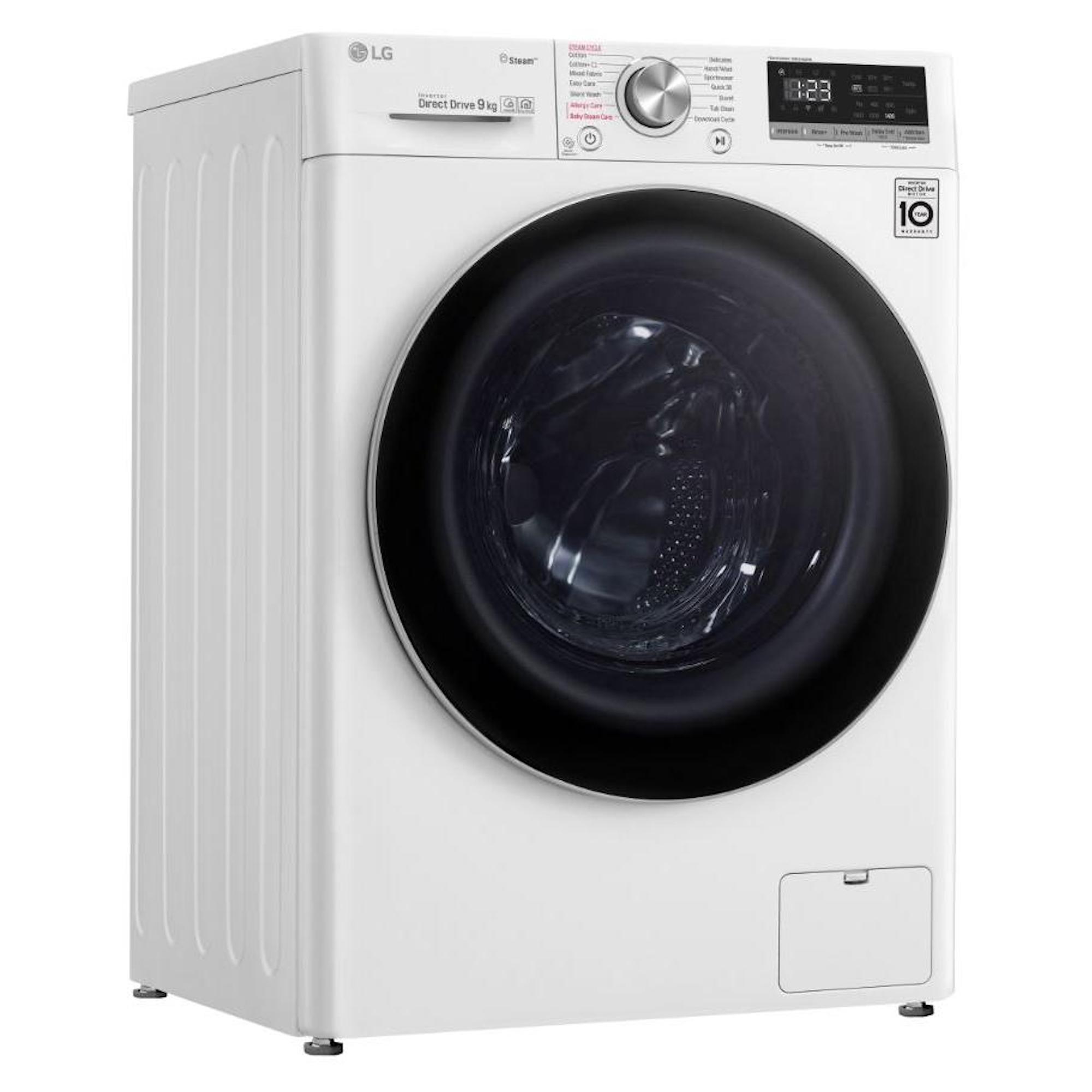 LG F4V509WS 9kg 1400rpm Washing Machine with Steam Technology + 5 year warranty £383.20 with code @ Hughes Direct ebay