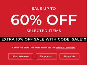 Clarks Further reductions! Take an extra 10% off sale with 60% Already off