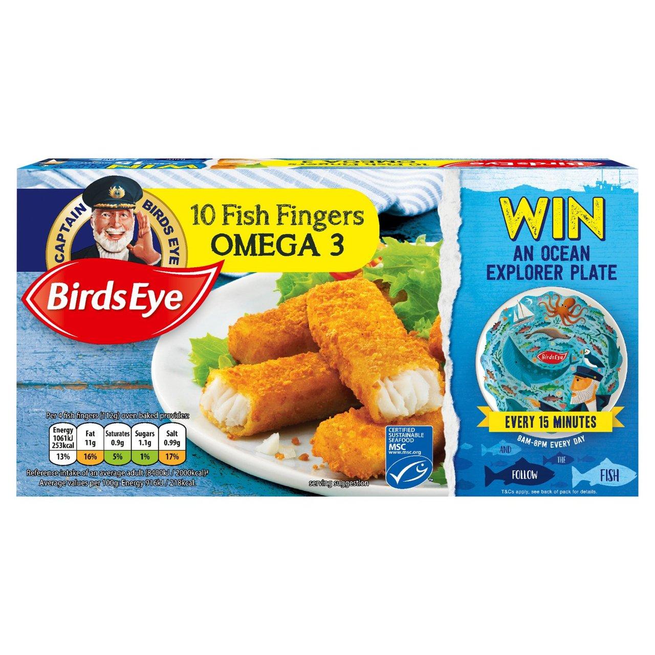 Birds Eye 10 Omega 3 Fish Fingers 280g for £1 @ Tesco
