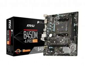 MSI AMD B450M-A PRO MAX AM4 mATX Motherboard £53.98 at Ebuyer/ebay with code