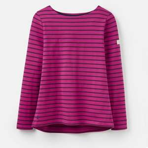 Joules 207522 Long Sleeve Jersey Top in Fuchsia Stripe £8.95 delivered @ eBay / Joules Outlet