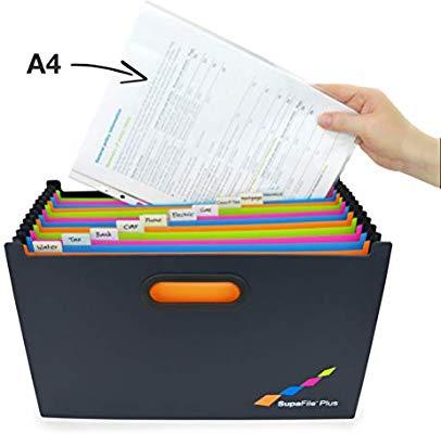 Rapesco SupaFile Plus A4+ Desktop Expanding File Organiser £8.99 @ Amazon (+£4.49 Non-prime)