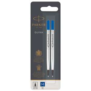 Parker Rollerball Refill Medium Nib, Blue, Pack of 2 now £3.82 (Prime) + £4.49 (non Prime) at Amazon