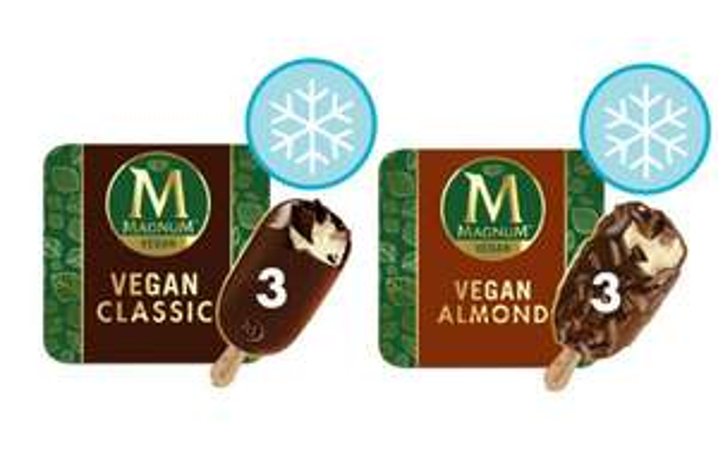 Magnum Vegan Ice Cream 270Ml £1.94 @ Tesco (Choice of Classic and Almond)