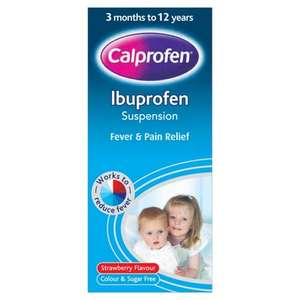 Free Lloyd's Pharmacy digital thermometer with selected Calpol £6.35 at Lloyds Pharmacy