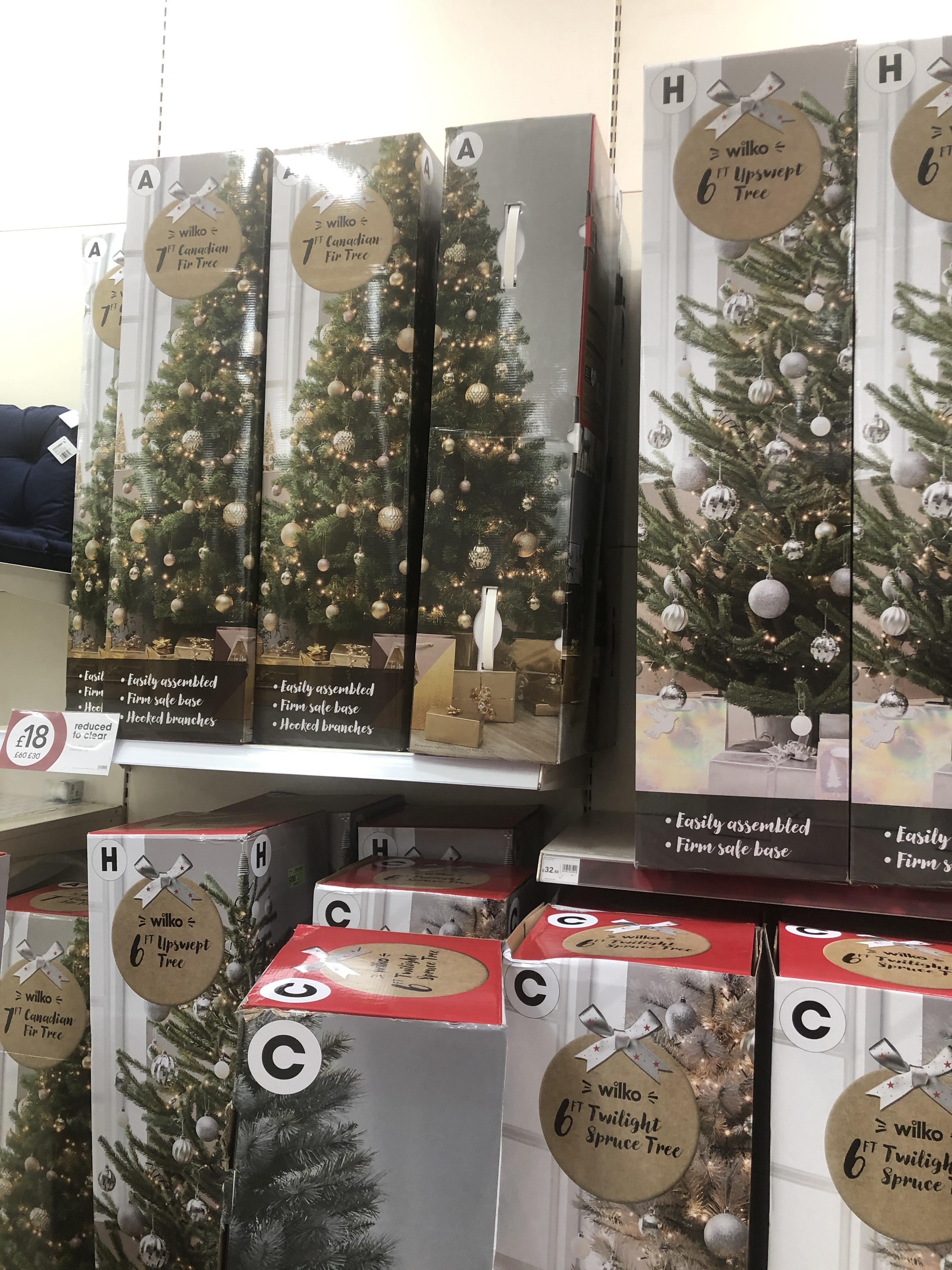Various 6' and 7' Christmas trees £18 in Wilko Swansea