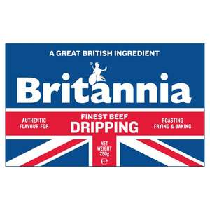 Britannia Solid White Beef Dripping 250g 50p a block at Morrisons