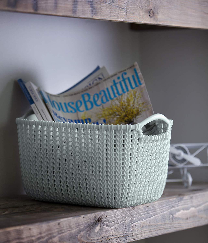 Curver Knit Rectangular Storage Basket, Misty Blue, 8 Litre now £7.70 (Prime) + £4.49 (non Prime) at Amazon (minimum order 2)