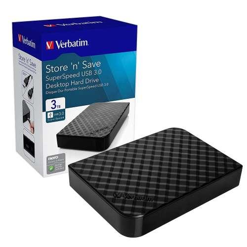 Verbatim 3Tb USB3 External HD £69.99 @ 7dayshop