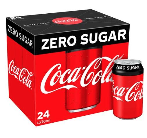 Tesco Express Belfast 24 cans of Coca Cola Zero 330ml £4.00