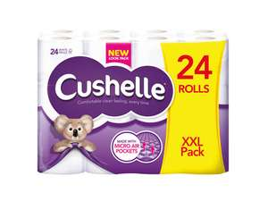 24x Cushelle Toilet rolls XXL pack £7 at Lidl NI