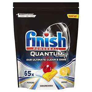 Finish Quantum Ultimate Dishwasher Tablets Lemon Scent, 85 Tablets - £9 with voucher at Amazon Prime / £13.49 Non Prime