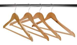 Home Set of 10 Wooden Hangers with free click & collect £4.66 at Argos