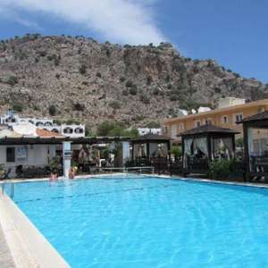 7 nights Self catering 21-28 April Coralli Apts. Rhodes + flights Stansted now £257 inc. taxes (£128 per person) via Travel Supermarket