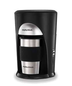 Morphy Richards Coffee On The Go Filter Coffee Machine 162740 Black and Brushed Stainless Steel Coffee Maker £16.49 + £4.49 NP @ Amazon