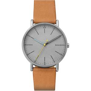 Skagen Light Tan Leather Analogue Watch £34.99 @ TK Maxx