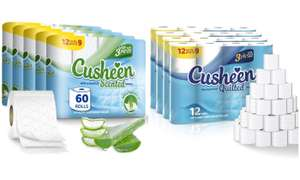 Groupon - 120 rolls - cusheen quilted & aloe Vera - 3 ply - £30 delivered