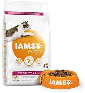 IAMS for Vitality Senior Dry Cat Food with Fresh Chicken, 3 kg £6 with prime or £10.49 without