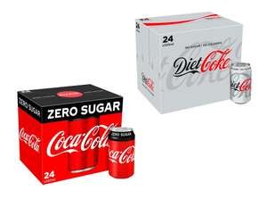 Coca Cola Coke Zero or Diet Coke - 24 cans x 330ml for £6.50 @ Tesco (from 08/01)