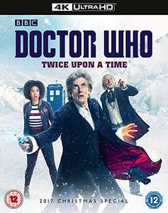 Doctor Who Christmas Special 2017 - Twice Upon A Time [4K UHD] [Blu-ray] [2018] £6.08 (Prime) / £9.07 (non Prime) at Amazon