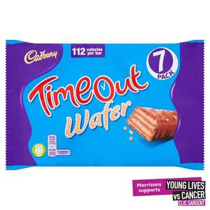 Cadbury 7 Pack Time Out Wafers £1 @ Morrisons