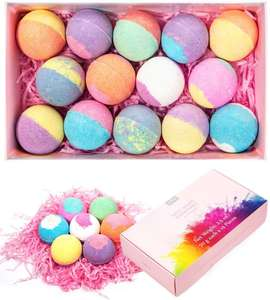 Anjou 14pcs Bath Bombs moisturizing Gift Set £12.99 with code & prime Sold by Sunvalleytek-UK and Fulfilled by Amazon