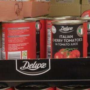 Deluxe tinned Italian Cherry Tomatoes 400g 59p @ Lidl