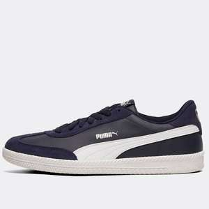 Mens Puma Astro Cup Leather/Suede Navy/White Trainers £23.99 delivered with code @ Footasylum / eBay