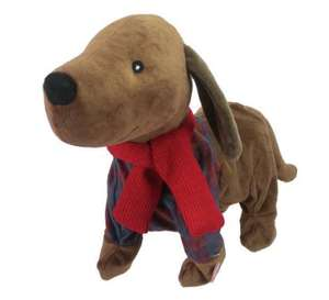 Part of the Family Sausage Dog Animated Soft Toy £4.50 @ argos
