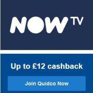 1 month Movies for £11.99, £12 Cashback with Quidco (new customers) @ Now TV Via Quidco