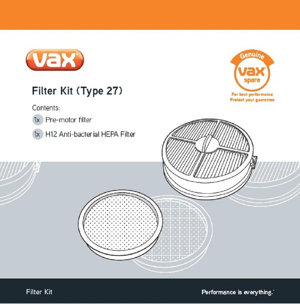 Vax Genuine Filter Kit (Type 27) - Air Upright £8.40 prime / £12.89 non prime @ Amazon