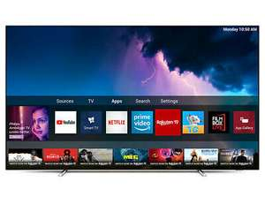 """Philips 55OLED754 (2019) OLED HDR 4K Ultra HD Smart Android TV, 55"""" with Freeview HD & Ambilight, Silver £949 at cramptonandmoore eBay"""