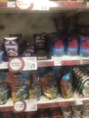 Roses and heroes chocolate boxes £1 at Wilko Derby