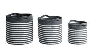 Argos Home Set of 3 Rope Storage Baskets - Grey and White now £15 free click and collect at Argos