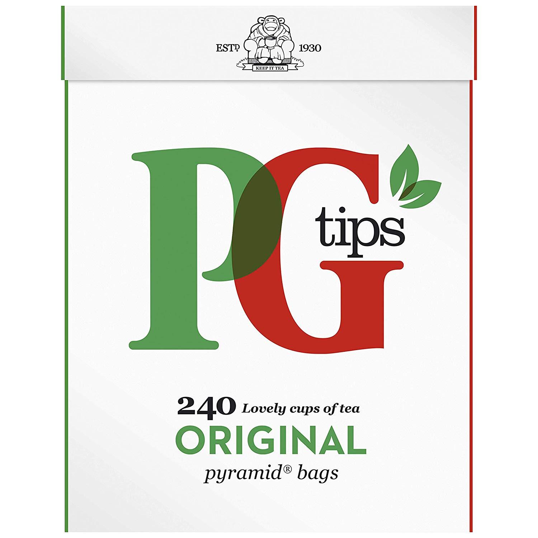 PG Tips 240 Tea Bags, 696g now £3 (Prime) + £4.49 (non Prime) at Amazon