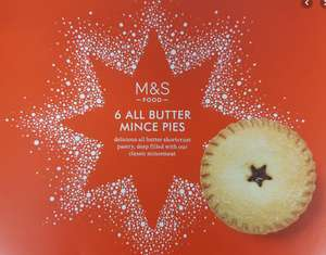 Mince Pies 20p in-store at M&S Devon