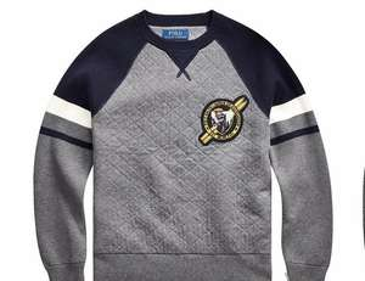 Ralph Lauren Boys Colour Block Badge Jumper in Grey - From £28.50 @ Very (Free C&C)