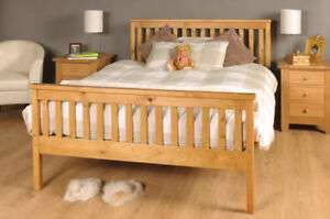 Double Bed Pine 4 x 6 Double Bed Wooden Frame Pine now £67.99 delivered with code at cloud_nine_furniture eBay