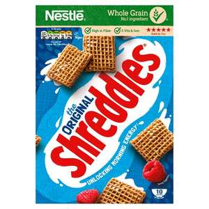 Shreddies 415G £1 in store and online Morrisons