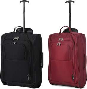 """5 Cities Lightweight 21"""" Cabin Bag with Wheels - Black or Wine for £7 @ Robert Dyas (Free click and collect)"""