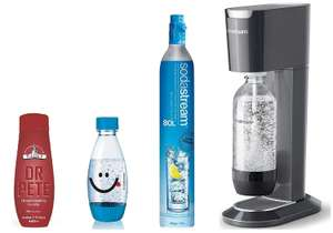 SodaStream Genesis Sparkling Water Maker Bundle, Black (Includes Extra Water Bottle + Dr Pete Syrup) £39.99 @ Amazon
