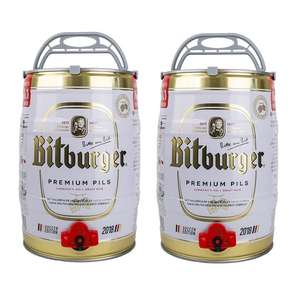 Bitburger beer kegs 5L x 2 - £32.19 Delivered Adnams