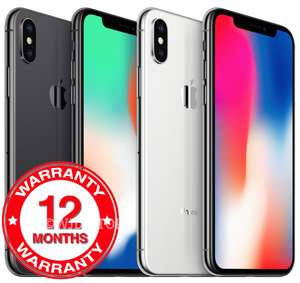 iPhone X Unlocked 64GB Space Grey and Silver Good Condition £327.96 after Promo Code @ eBay / wjd store Refurbished
