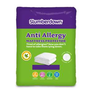 Slumberdown Anti-Allergy Mattress Protector - White (Double) for £4.50 @ Robert Dyas (Free click and collect)
